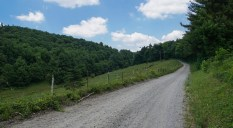 Side dirt road on Blue Ridge Parkway