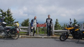 "Doug chased me down on Blue Ridge Parkway to ask ""Sind Sie aus Schweiz?"" We then rode together to Mt. Mitchell"