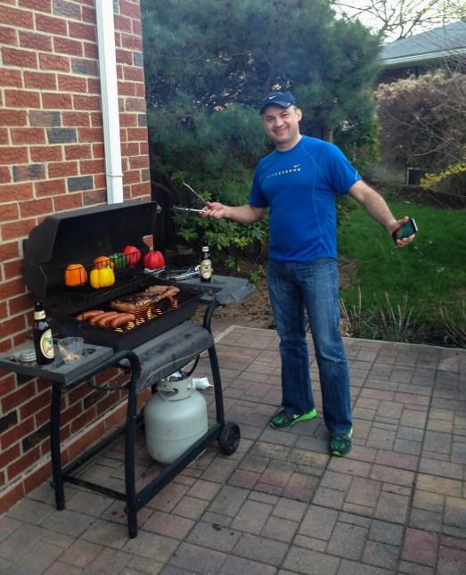 My friend Eduardo preparing some delicious BBQ