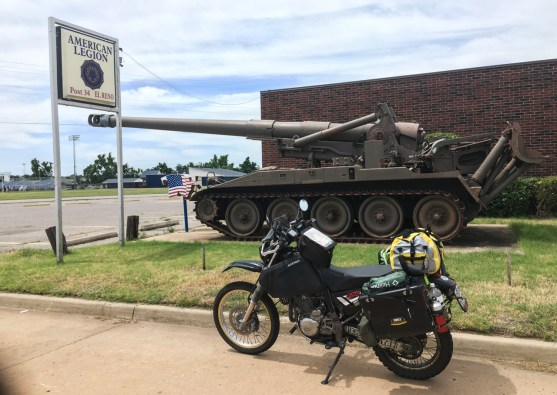 Following Route 66 there were several military vehicles...