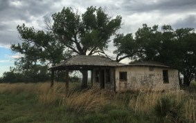 Most of the buildings in Glenrio were privately owned, except this old gas stop