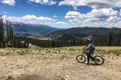 We went Mountainbiking in Keystone