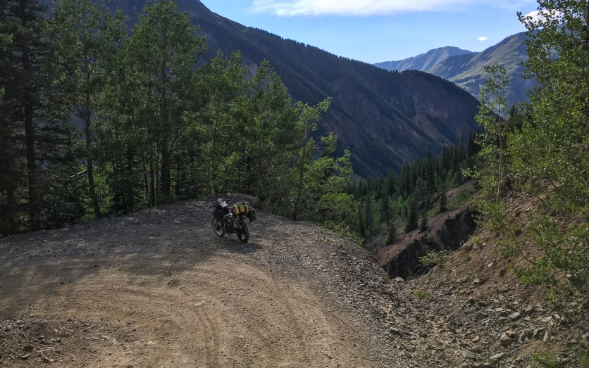The descent was easy, but you had to be aware of steep drop-offs in the switchbacks