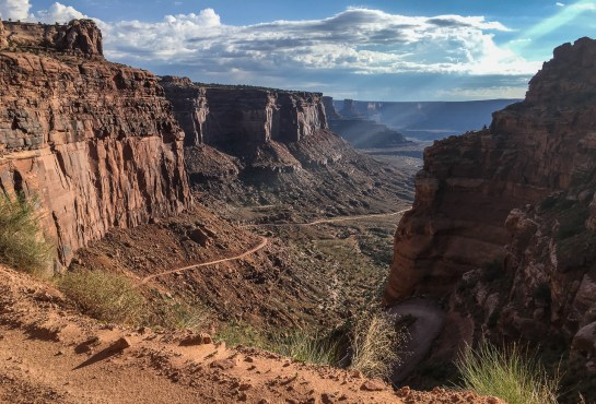 View into the canyon