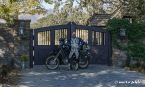 At the gate of Neverland Ranch