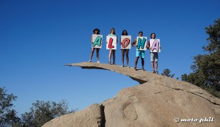 Fotoshoot on the potato chip rock