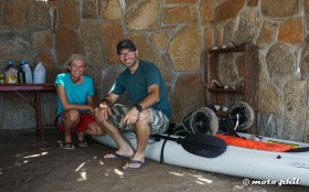 Greta was travelling all the way up from Los Cabos to the Bahia, in a Kayak!