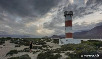 Sunset behind the Bahia Lighthouse