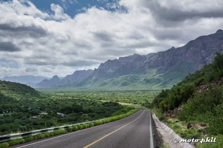 A very impressive mountain range along the main road