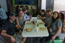 """moto.phil, Marchimarch, Michnus and Elsebie enjoying """"La Paz"""" Tacos in Guadalajara"""