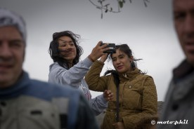 Mexican girls taking a selfie with wind in their hair