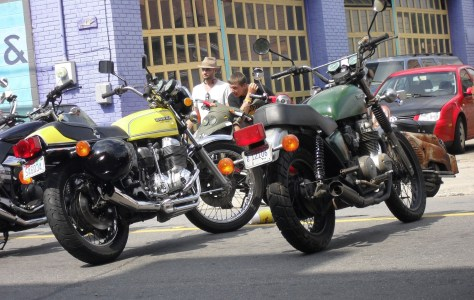 my CB650C and a nice CB750 Super Sport