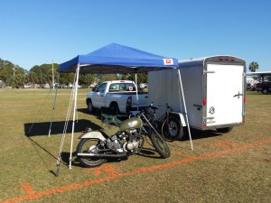 Motopsyco's camp @ Destination Eustis 2016 Motorcycle Show
