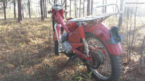 1970 Honda CT90 left rear view