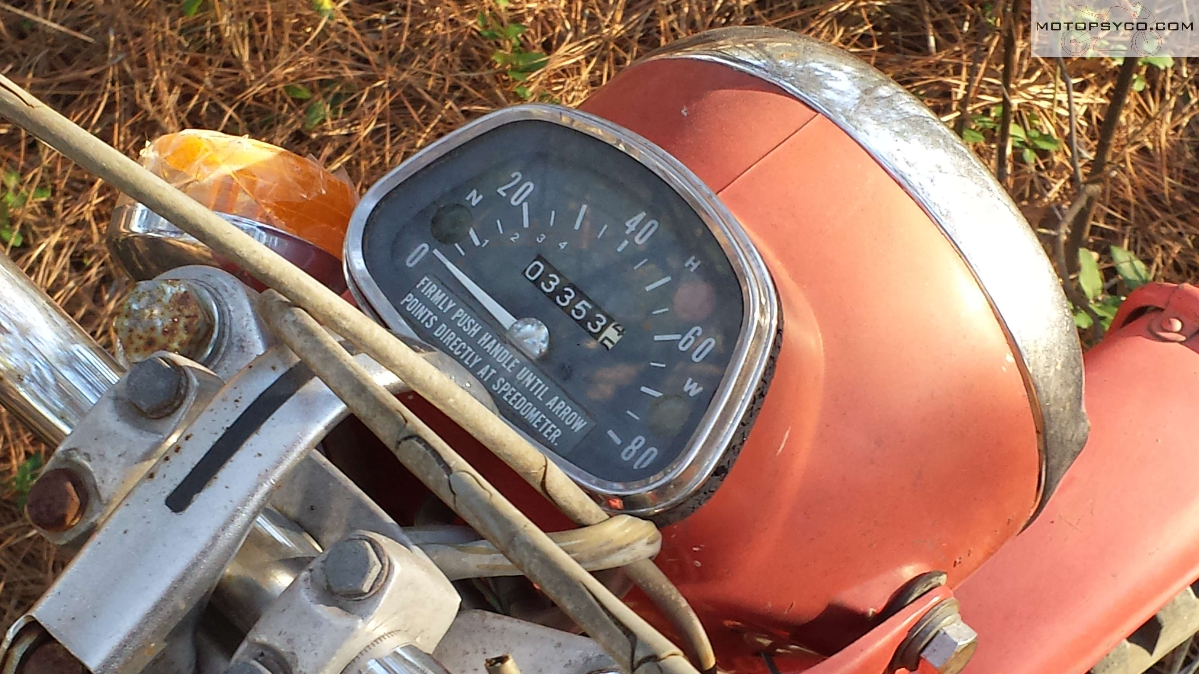 1970 Honda Ct90 Junkyard Dog Motopsycos Asylum Crazy About Ct70 Fuel Tank Speedometer