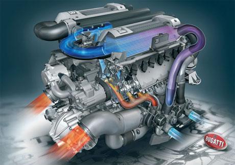El corazón del Bugatti Veyron, al descubierto