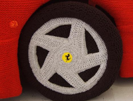 Ferrari de lana, el peluche ideal