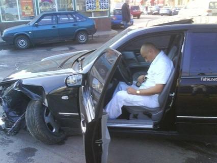 Accidente Mercedes Clase E