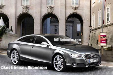 Mula de pruebas del Audi A7, cazada