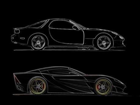 Maravillas que se pueden hacer con un Mazda RX-7: X3 Concept