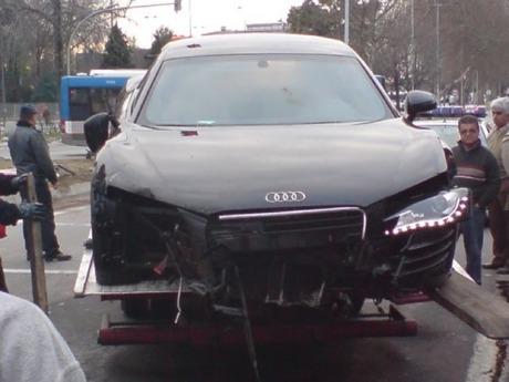 Otro Audi R8 siniestrado