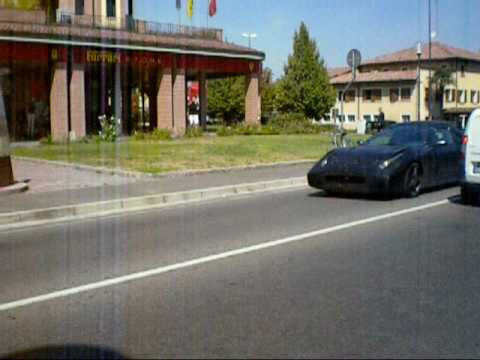 Ferrari prototype on road