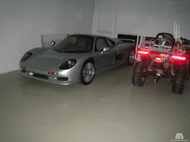El garaje que nos encontramos en Ascari Race Resort