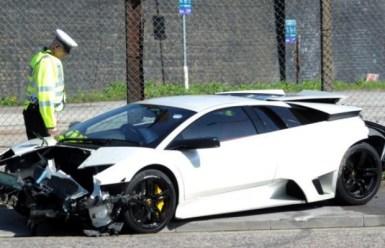 Accidente: Lamborghini Murciélago LP640 en Inglaterra