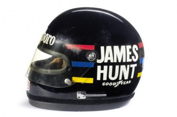 A subasta el casco de James Hunt 2