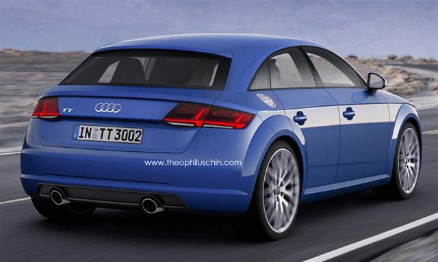 Así sería el Audi TT de 5 puertas 1