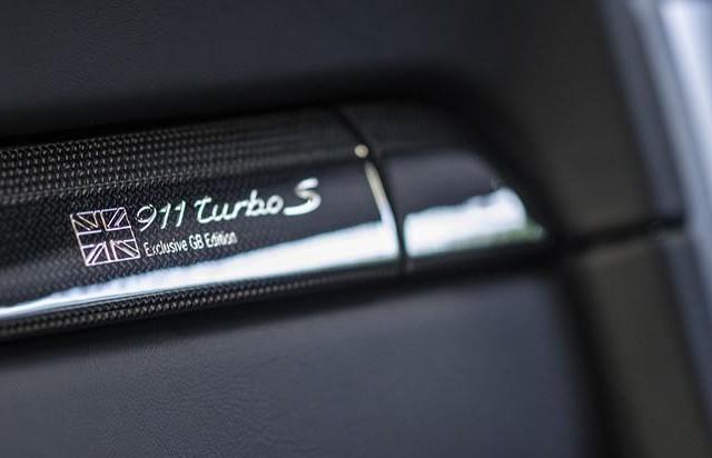 Porsche 911 Turbo S GB Edition, edición limitada exclusiva para Inglaterra 4
