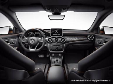 Así luce el nuevo Mercedes CLA45 AMG Shooting Brake Orange Art Edition