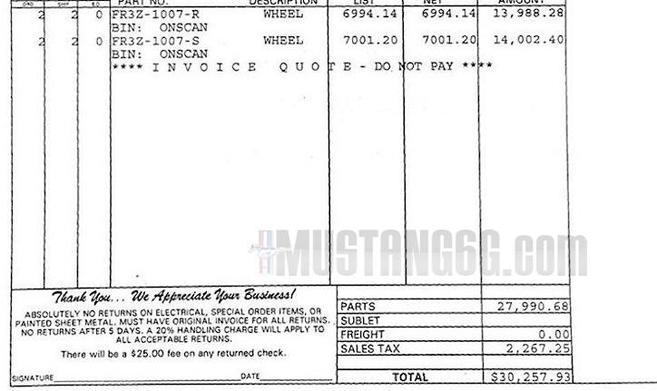 Las llantas de fibra de carbono del Shelby Mustang GT350R cuestan 27.000 euros 1
