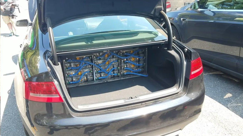 Este Audi S5 lleva el motor eléctrico de un Tesla Model S