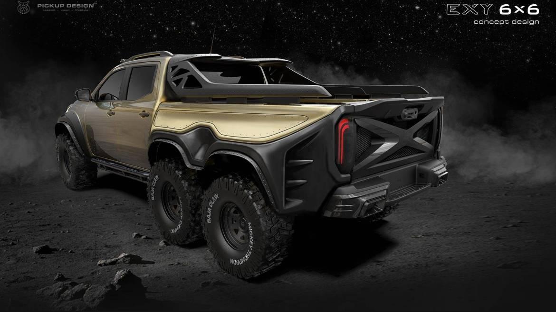 Carlex Design quiere crear el Mercedes Clase X más radical... ¡con seis ruedas!