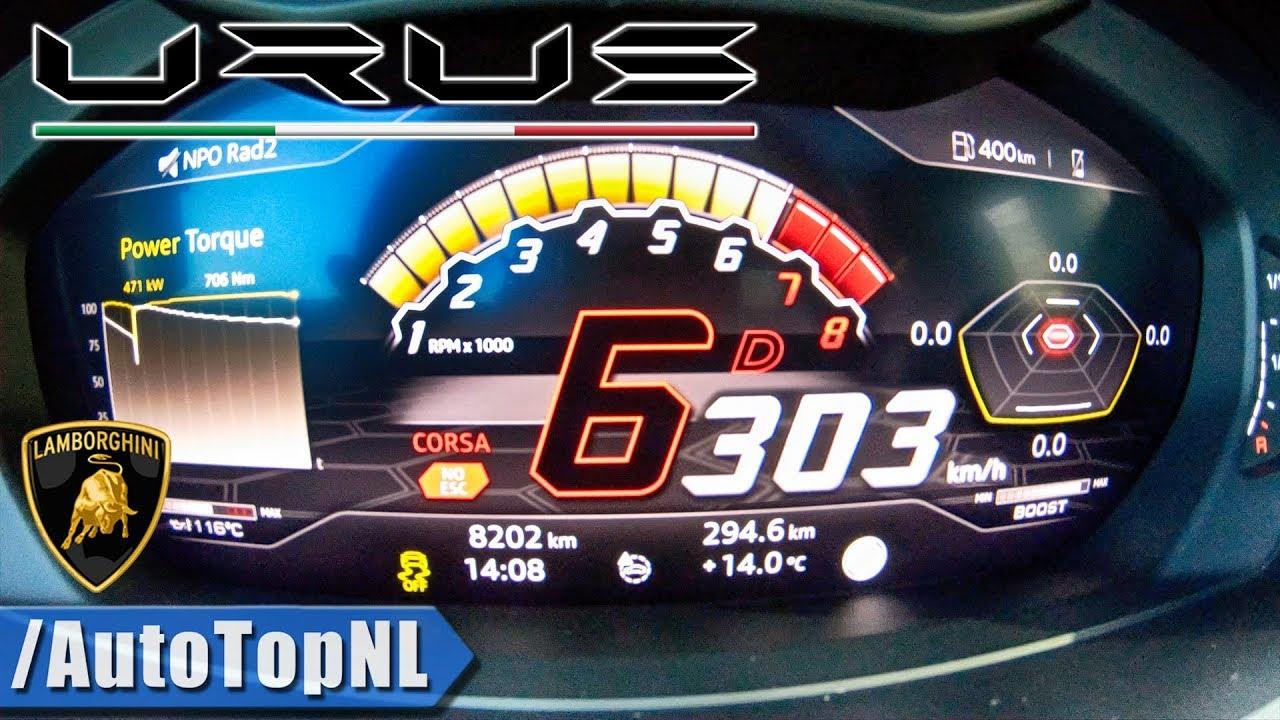 LAMBORGHINI URUS ACCELERATION 0-303km/h LAUNCH CONTROL by AutoTopNL