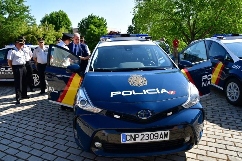 70 Toyota Prius+ híbridos para la flota de la Policía Nacional