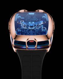 Este reloj tiene un pequeño motor W16 de Bugatti funcional en su interior, pero su precio es astronómico