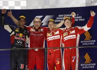 Con Ricciardo e Raikkonen