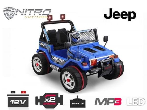 Auto Elettrica Per Bambini Jeep Style Nitro Motors Miglior