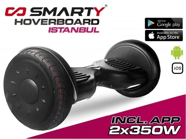 1178041 2x 350W Smarty Hoverboard 10 Zoll Istanbul mit App Steuerung
