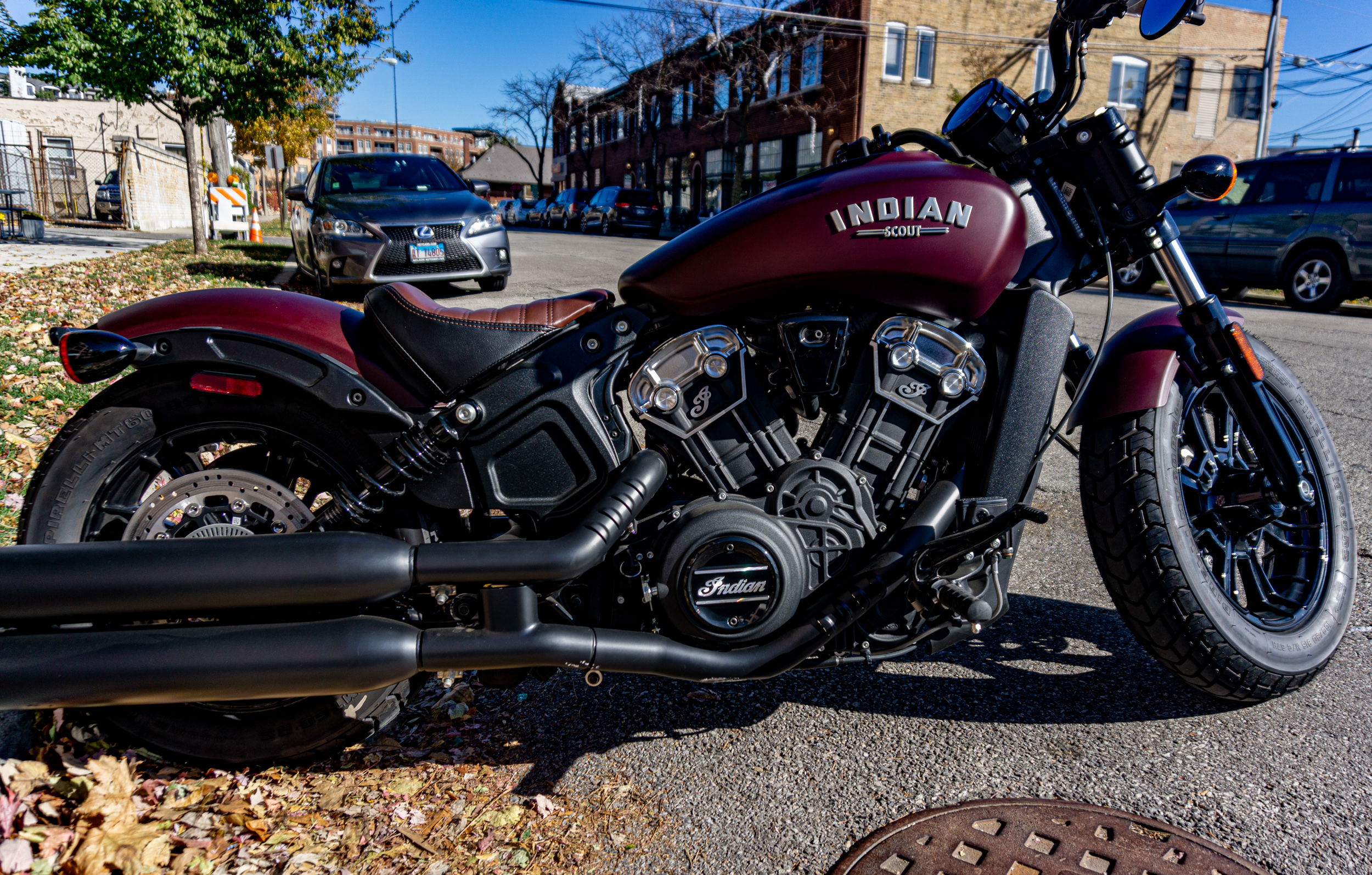 riding a 2021 indian scout bobber
