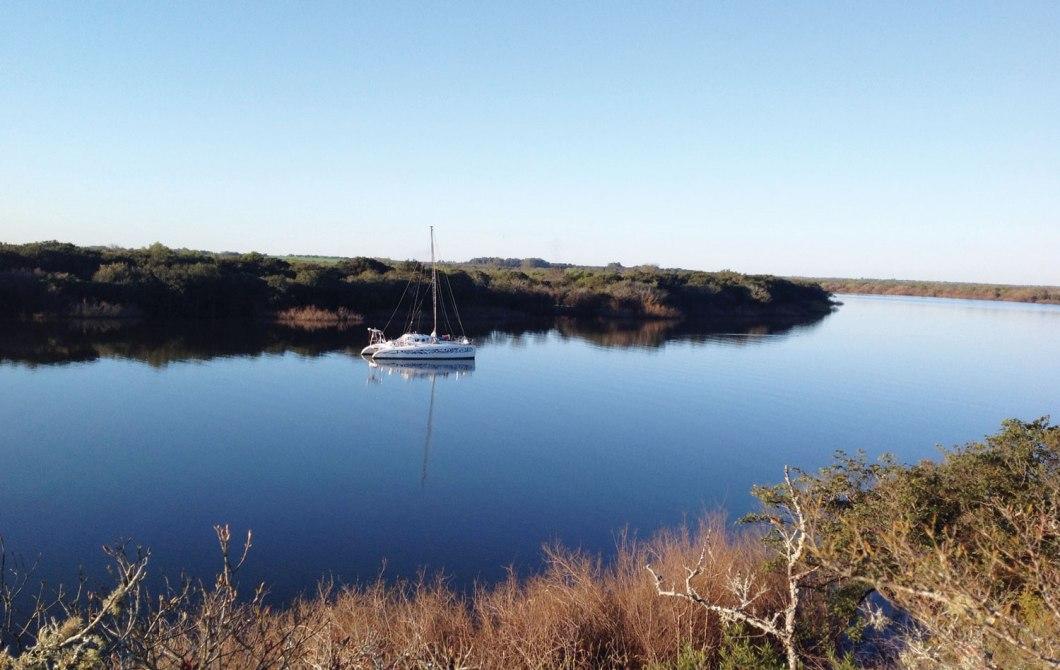 Uruguay'da Afrikalı bir katamaran