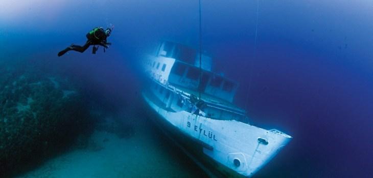Karadeniz'den Akdeniz'e uzanan 10 batık dalış noktası