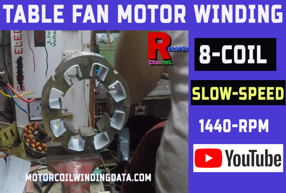 Table Fan Motor Winding Data With Connection In Hindi