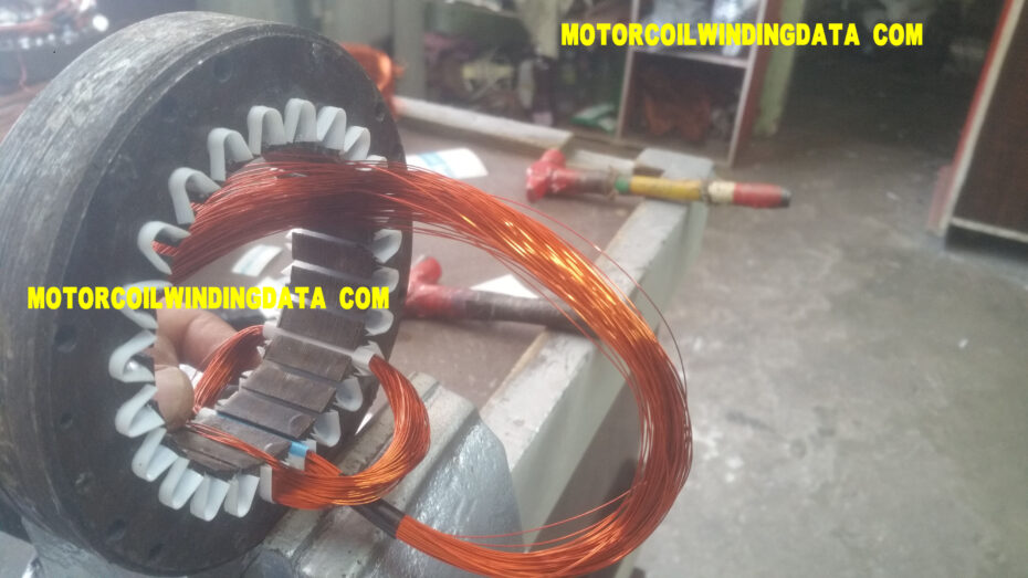24 slot 1 inch cooler fan motor winding data with aluminium wire