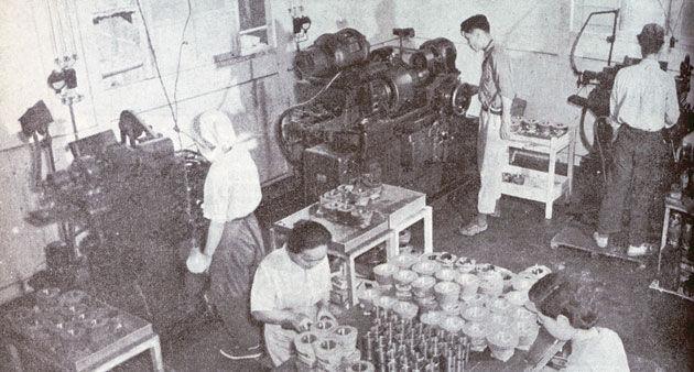 Noguchi Fabrikası'nda Honda A Tipi Motor Üretimi - 1948