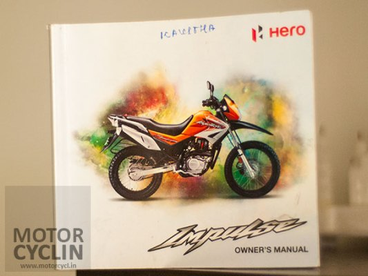 Hero Impulse Specifications Owners Manual