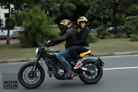 Ducati Scrambler two up