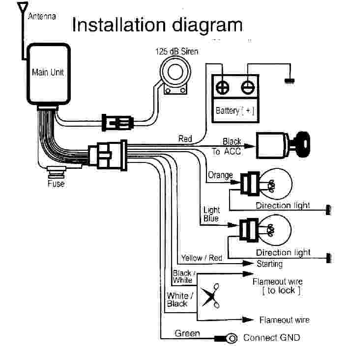 Installation Wiring Diagram Of Motorcycle Alarm System
